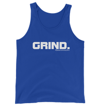GRIND 1 White Logo Mens Bella + Canvas Tank Sweasy Street Collection