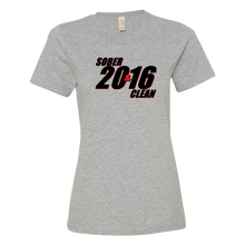 SOBER & CLEAN 2016 Ladies' Anvil T-shirt