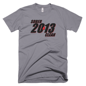 SOBER & CLEAN 2013 Men's American Apparel T-shirt