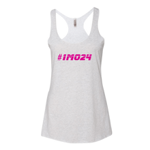 #1MO24 Pink Logo Ladies' Next Level Tank