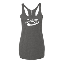 SoberAF White Logo Ladies' Next Level Tank