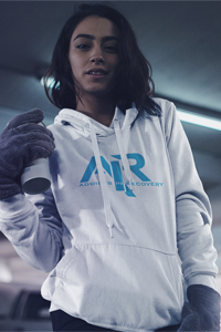 AIR Blue Logo Gildan Hoodie - FREE SHIPPING ON THIS ITEM
