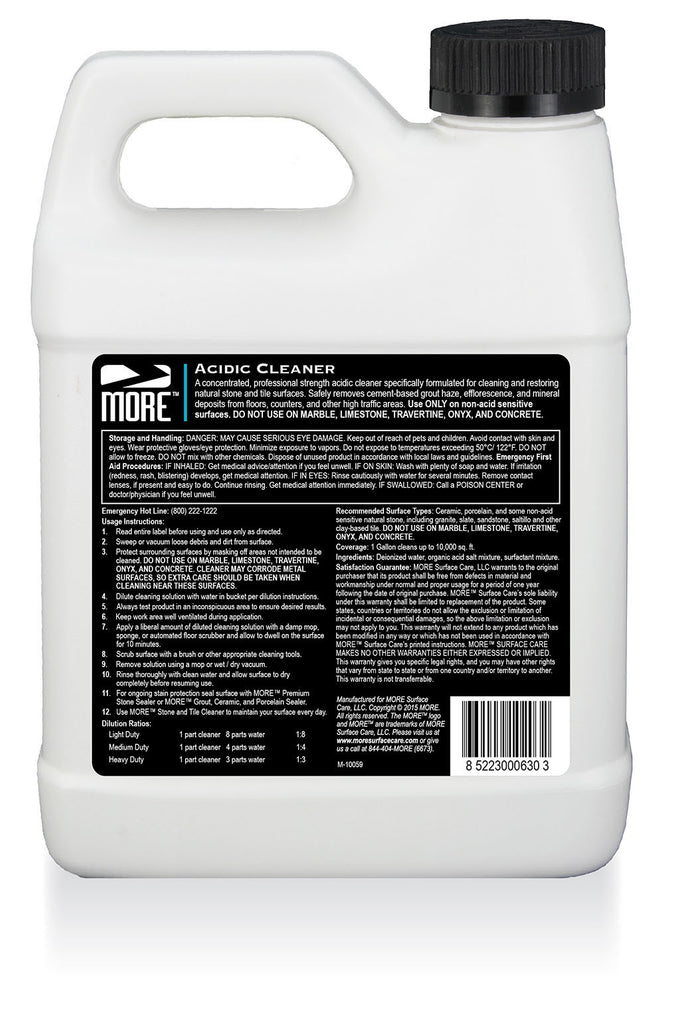 MORE(tm) Acidic Cleaner | MORE Surface Care