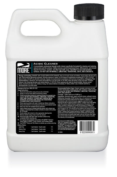 MORE™ Acidic Cleaner - MORE Surface Care