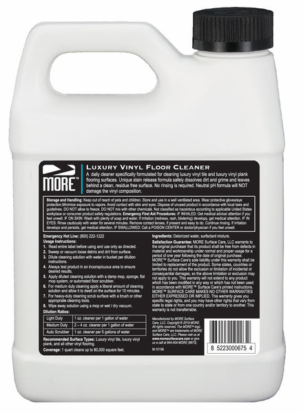 MORE™ Luxury Vinyl Floor Cleaner