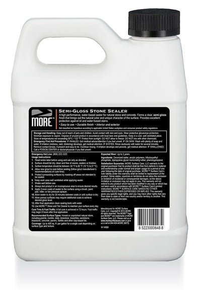 MORE™ Semi-Gloss Stone Sealer - MORE Surface Care