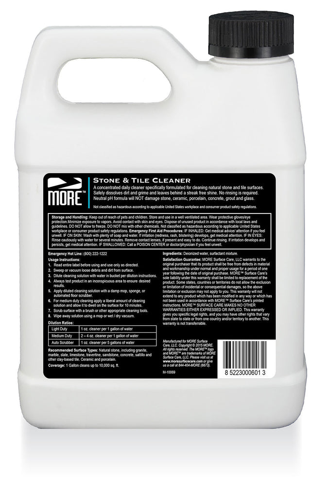 Moretm Stone Tile Cleaner More Surface Care