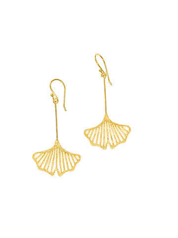 Gingko Leaf Earrings by Anantara