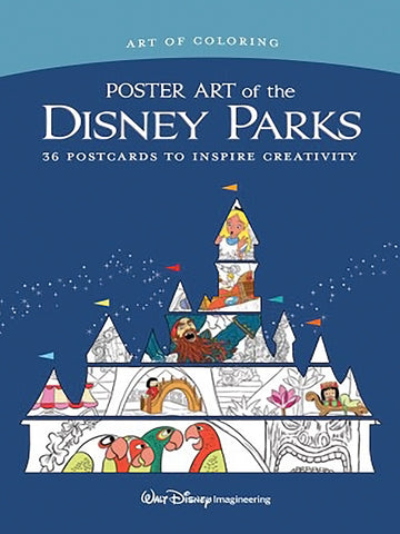Art of Coloring: Poster Art of the Disney Parks (36 Postcards to Inspire Creativity)