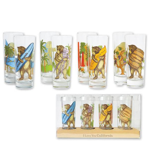 California Bear - Set of 4 Shooters