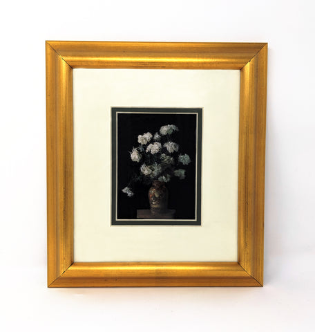 """Untitled (Oriental Vase with White Chrysanthemums"", Framed Print Copy"
