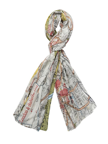 "One Hundred Stars ""London Map"" Scarf"