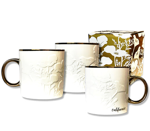 White California Poppy Mug