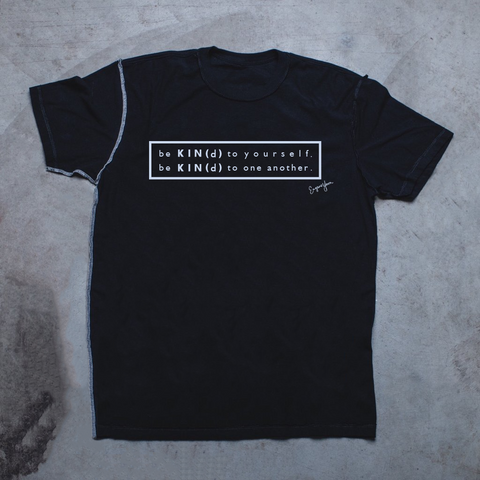 MENS <br> 'Be Kind' Graphic Rectangle Inside-Out Tee