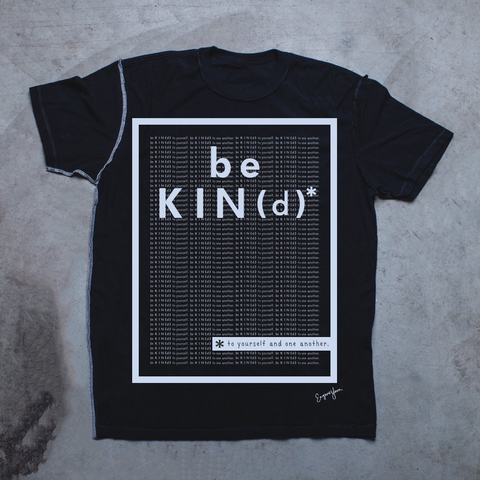 MENS <br> 'Be Kind' Matrix Inside-Out Tee