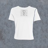 WOMENS <br> 'KIN LOV GRA' Graphic Box Inside-Out Tee