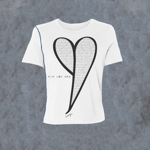 WOMENS <br> Be Kind' Heart Inside-Out Tee