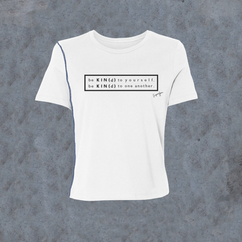 WOMENS <br> 'Be Kind' Graphic Rectangle Inside-Out Tee