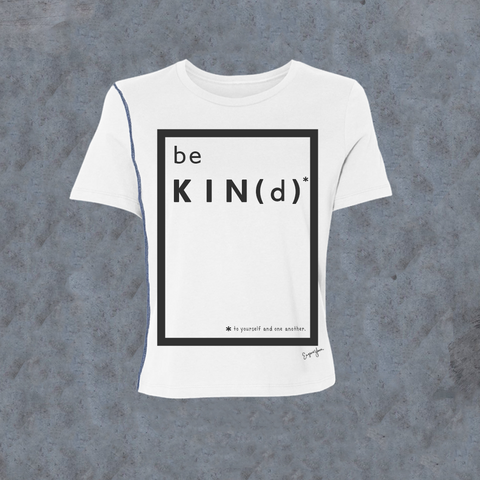 WOMENS <br> 'Be Kind' Graphic Box Inside-Out Tee