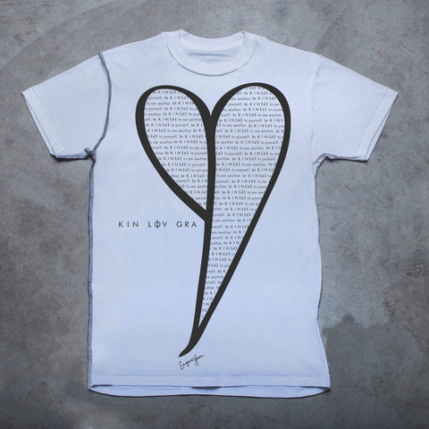 MENS <br> 'Be Kind' Heart Inside-Out Tee