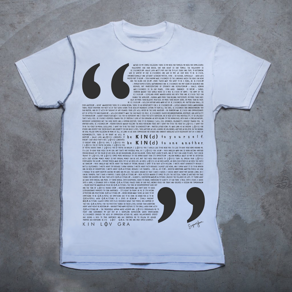 MENS <br> KIN(dness) LOV(e) GRA(titude) Quotations Inside-Out Tee