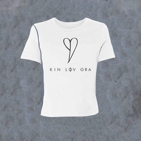 WOMENS <br> 'KIN LOV GRA' Inside-Out Tee