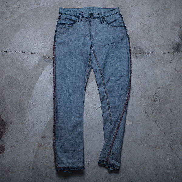 001 - Inside-Out Denim (Womens / Size 24 / Skinny Jeans)