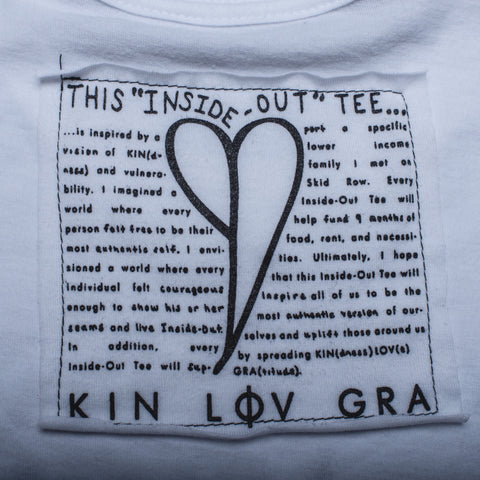 """KIN LOV GRA"" Inside-Out Tee"
