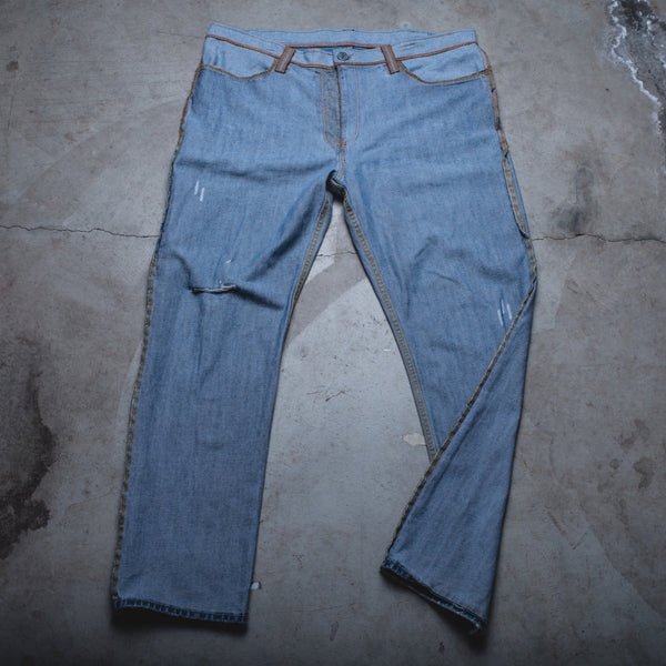 026 - Inside-Out Denim (Mens / Size 38 x 32 / Relaxed Straight Leg)