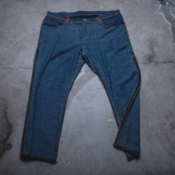 027 - Inside-Out Denim (Mens / Size 40 x 30 / Slim Straight Leg)