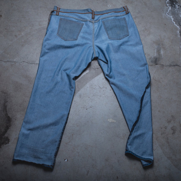 015 - Inside-Out Denim (Womens / Size 44 / Straight Leg)