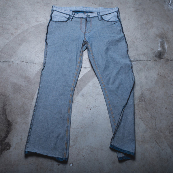 011 - Inside-Out Denim (Womens / Size 34 / Flare)