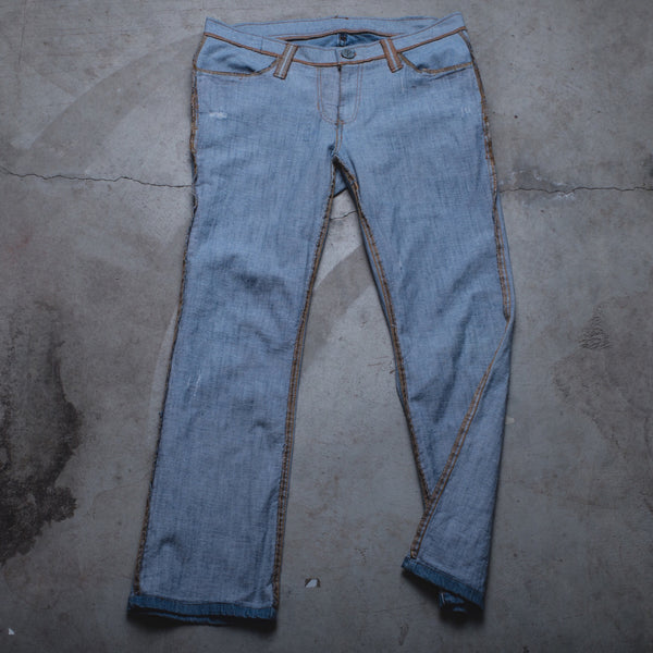 010 - Inside-Out Denim (Womens / Size 34 / Low Rise Bootcut)