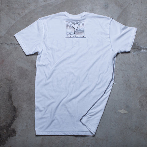 "MENS <br> ""Amable Amoroso Agradecido"" Inside-Out Tee"