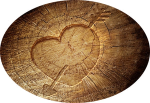 Heart logo - old pine furniture and antique pine furniture for sale.