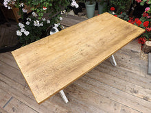 OLD PINE/BEECH PAINTED TRESTLE TABLE - oldpineshop.co.uk