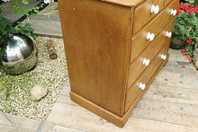BEAUTIFUL & LARGE OLD PINE CHEST OF DRAWERS/ SIDEBOARD - oldpineshop.co.uk