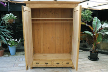 WOW! BEAUTIFUL! LARGE OLD PINE DOUBLE 'KNOCK DOWN' WARDROBE - oldpineshop.co.uk
