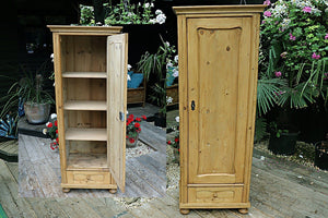 VERY OLD STRIPPED PINE CABINET/ CUPBOARD/ WARDROBE 💜 - oldpineshop.co.uk