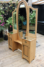 FABULOUS AND QUALITY LARGE OLD PINE ADJUSTABLE MIRRORED DRESSING TABLE 😍 - oldpineshop.co.uk