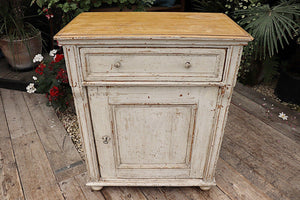 😍 OLD PINE/ PAINTED 1 DOOR DRESSER BASE/SIDEBOARD/CUPBOARD - oldpineshop.co.uk