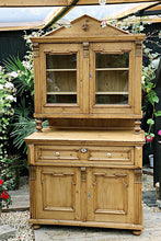 BEAUTIFUL, FABULOUS & LARGE OLD VICTORIAN TWO PIECE DRESSER/ CUPBOARD 💕 - oldpineshop.co.uk
