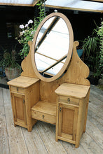 💕  FABULOUS OLD PINE ADJUSTABLE MIRRORED DRESSING TABLE - oldpineshop.co.uk