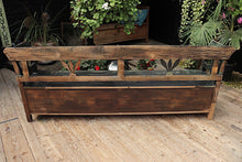 💕 FAB! LARGE OLD PINE/ PAINTED BLACK/ GREEN STORAGE/ BOX BENCH - oldpineshop.co.uk