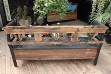 😍  FABULOUS! OLD PINE/ PAINTED BLACK STORAGE BOX BENCH/ SETTLE - oldpineshop.co.uk