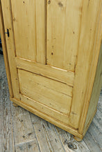 😍 LARGE OLD PINE 1 DOOR FOOD CUPBOARD/LINEN/KITCHEN/LARDER/WARDROBE 😀 - oldpineshop.co.uk