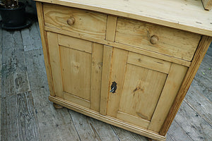 FABULOUS OLD PINE SIDEBOARD/CUPBOARD/COMPUTER DESK/ BABY CHANGING UNIT 😀 - oldpineshop.co.uk