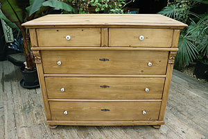 ❤️  FANTASTIC! BIG!! VICTORIAN PINE CHEST OF DRAWERS/ SIDEBOARD 👍🏽 - oldpineshop.co.uk