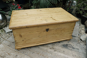 ❤️    FAB! LARGE OLD PINE BLANKET BOX/ TRUNK/ TABLE/ COFFEE TABLE   😍 - oldpineshop.co.uk