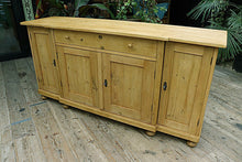 BIG! OLD 2m PINE SIDEBOARD/ CUPBOARD/ TV STAND ❤️ - oldpineshop.co.uk